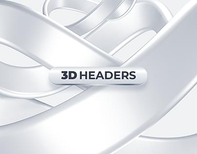 Twitter Headers | 3D