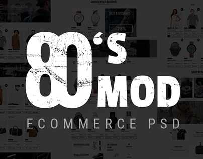 80's MOD - eCommerce PSD Template