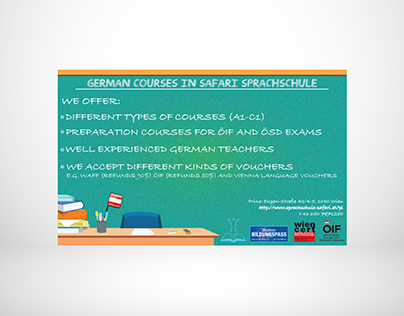 German course, advertisement