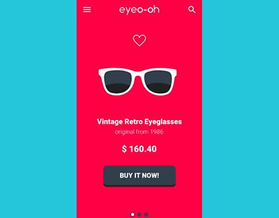 Minimal Shop app UI