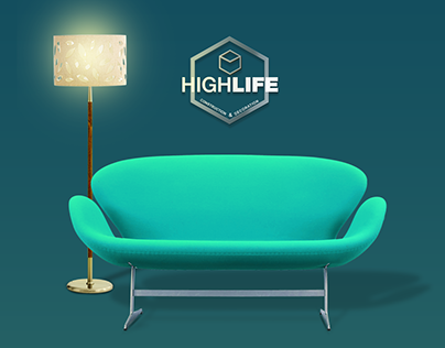 HighLife Interior Design Branding and Social media