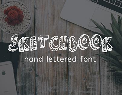 Sketchbook - Hand Lettered Font