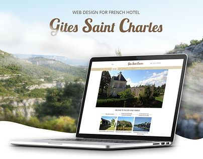 Web design for French hotel