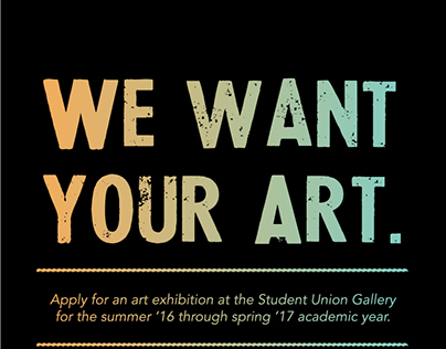 Student Union Gallery Call for Art 2016
