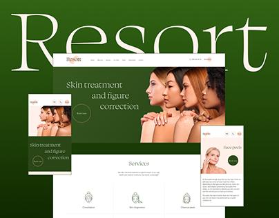 Website design for Resort – cosmetology salon