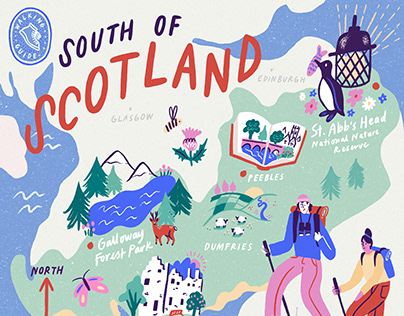 Map of Scotland - Red Magazine