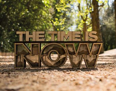 THE TIME IS NOW - proyecto de tipografía experimental