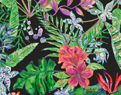 Tropical Patterns + Elements for fashion & interiors