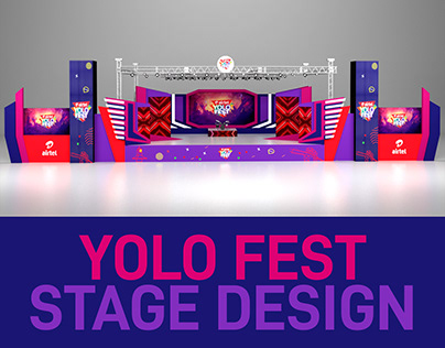 3D Stage Design for Airtel Yolo Fest