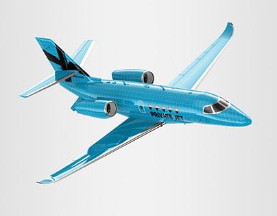 Business / Private Jet Mockup - 3D