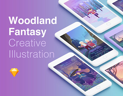 Woodland Fantasy Creative Illustration