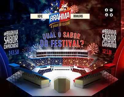 HOTSITE BRAHMA O SABOR DO FESTIVAL.