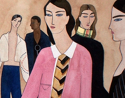 Menswear Is From Mars...Illustration for Vogue.com