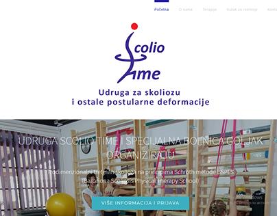 Izrada web stranice za udrugu Scolio time