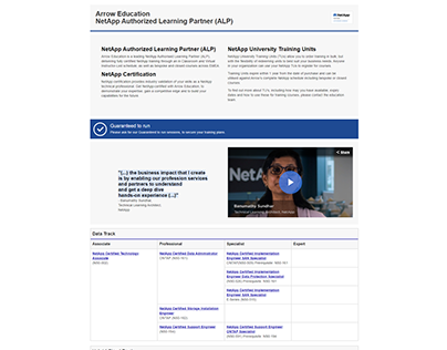 NetApp landing page
