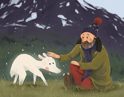 Petit renne blanc