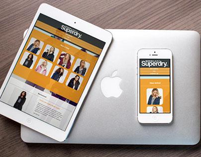Superdry Website (Design + Coding)