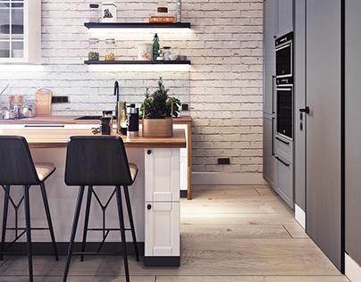Design project of the apartment in Zagreb (50 sq.m.)