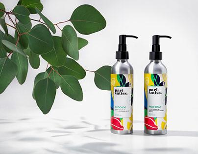 Pari Satiss: Packaging Design for Organic Cosmetics