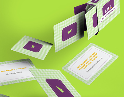 Graphic Design and Packaging for L.E.F. kaarten