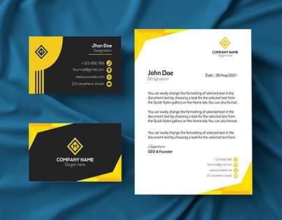 Letterhead & Business Card DEsign.