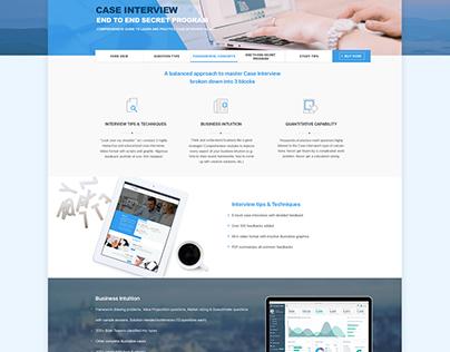 M Consulting Prep Web Design