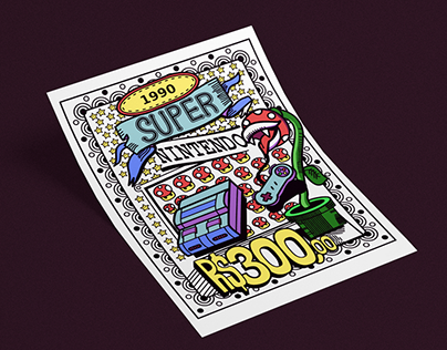 Cartaz Super Nintendo