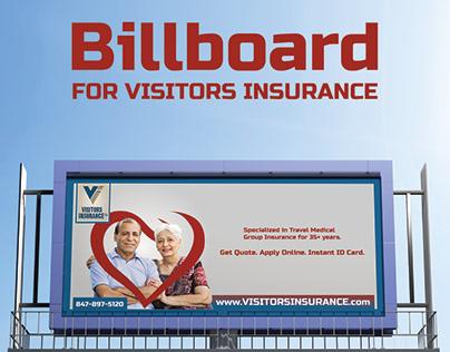 Billboard For VISITORS INSURANCE
