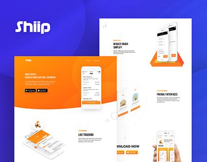 Shiip - Landing page