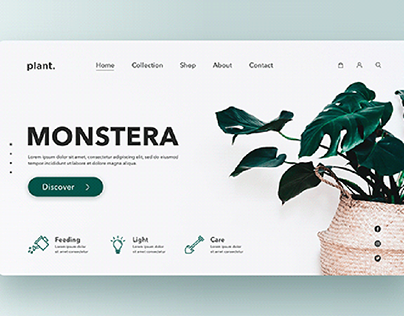 Plant website concept home page