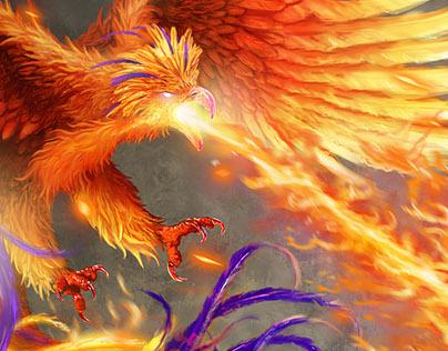 Phoenix Illustration for Heroes' Tears RPG