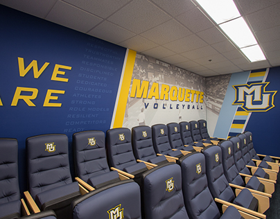 Marquette University Volleyball Locker Room