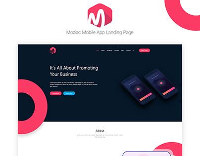 Moziac App Landing Page