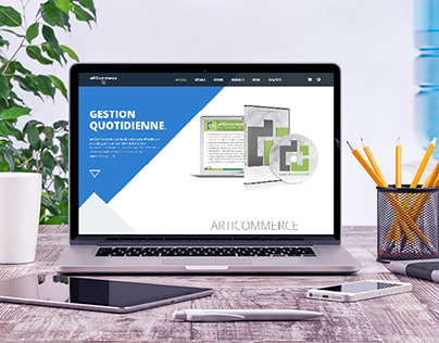 ArtiCommerce website design - one page website