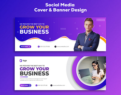 Facebook Cover or Banner Design. Social media Cover.