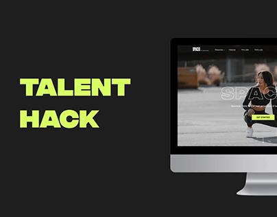 Talent Hack - website redesign