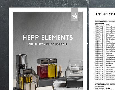 HEPP Price List