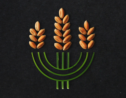 Concept of ukrainian organic logo