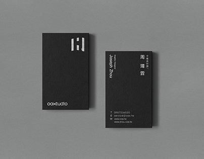 傲思設計oaxtudio X zhoudesign 名片設計 Bussiness card design