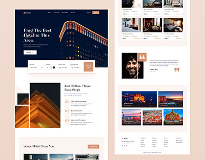 Hotelo- Search hotel home page design
