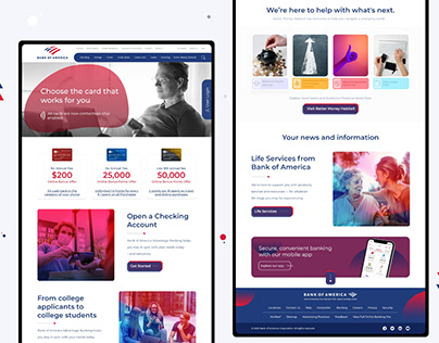Bank Of America | Redesign Concept | Ui Design
