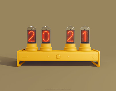 nixie year clock