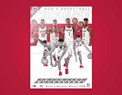 Ohio State Basketball 2016/17 Schedule Poster