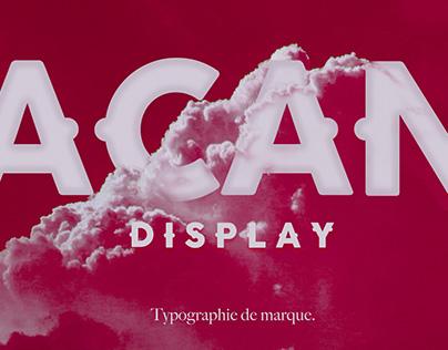 Acan Display Font