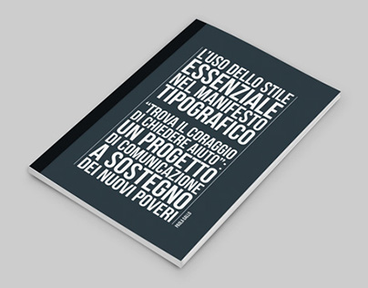 L'uso dello stile essenziale nel manifesto tipografico