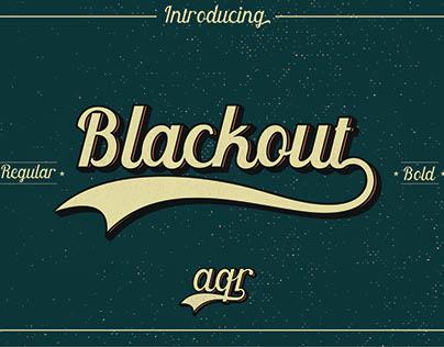 Blackout Vintage Font