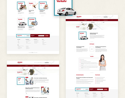 Web Design concept for insurance company