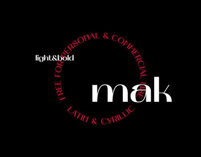 MAK - FREE EXPERIMENTAL FONT