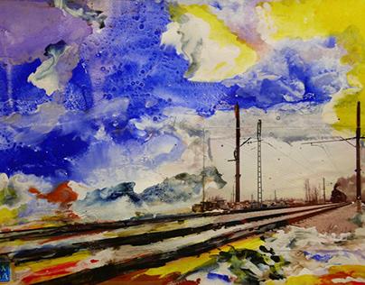 Train to Paris Marc Chagall