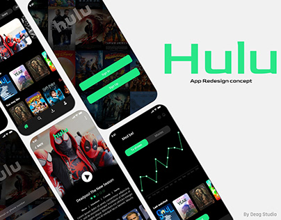 Hulu App Redesign Concept - Movies And Tv Shows App Ui